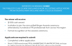 Cavanaugh Award Flyer